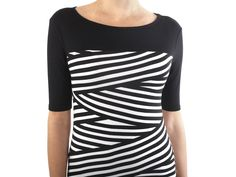 Stripe Boatneck Dress