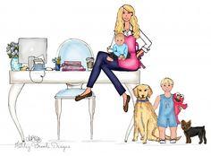 Desk illustration   http://ashleybrookedesigns.com/