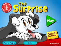 You're the Storyteller: The Surprise (Home Edition) HD ($0.00 free for now, normally 3.99)  In this beautifully animated, wordless story, the child watches each scene and can then record and/or write their very own narration! HOME version- for a single user only. Wordless picture book. There are 8 chapters in this story. Each chapter's animation clips runs an average of 15 seconds, allowing the child to describe and retell the story in small increments.