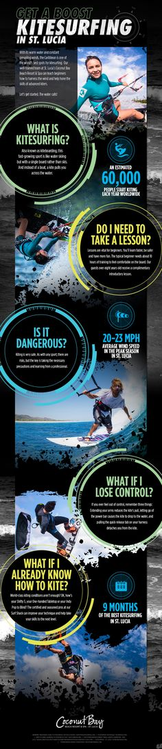 Get a Boost Kite Surfing in St. Lucia Infographic