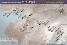 Idotarod map, southern route