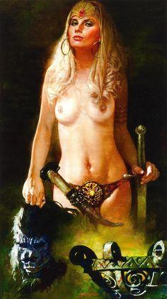 sanjulian - warrior woman