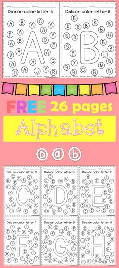Freebies Alphabet Dap A-Z 26 pages. For PreK and Kindergarten.FREE Freebies Alphabet Dap A-Z 26 pages. For PreK and Kindergarten. Preschool Letters, Learning Letters, Preschool Kindergarten, Preschool Learning, Letter Recognition Kindergarten, Alphabet Activities Kindergarten, Kindergarten Freebies, Kindergarten Language Arts, Abc Activities