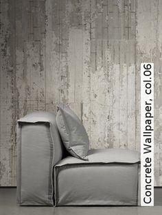 Tapete broken concrete col 08 steintapete in den farben for Steintapete schwarz