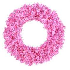 36 Sparkling Hot Pink Artificial Christmas Wreath - Unlit $34.99