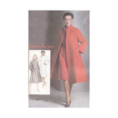 Dress and Tent Coat Simplicity 9712 Size 16 Bust 38 by Redcurlzs