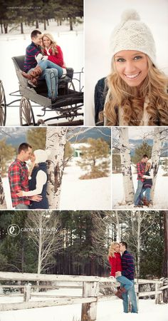 winter engagement session in Flagstaff by Cameron& Kelly Studio gloves, scarves, sweaters, cool barn  http:www.cameronkellystudio.com