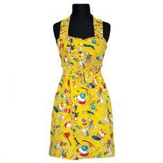 Sweetheart Neckline Apron - Cat Antics - Dr. #Seuss #cute #fashion