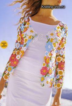 Janela do Sóton: Blusa em Flores de Crochê