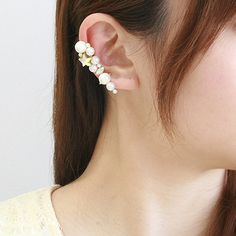 ear cuff made using clip-on earring findings