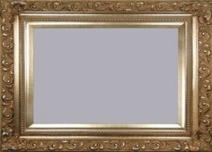Champagne Silver Wall Picture Frame With Delicately Carved Swirl Baroque Design. Beaded Border & Matching Silver Liner.