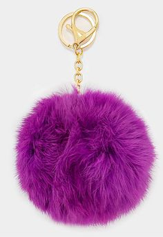 Rabbit fur pom pom keychain for car key ring Bag Pendant Turquoise ... 4a81fb979674