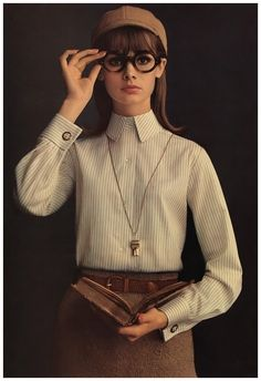 """From the Famous Shirtmaker for Men,"" Jean Shrimpton, Lady Van Heusen, 1964. For Altman, Stoller. Photo William Helburn."