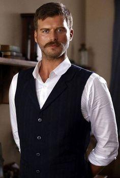 Kurt Seyit (Kivanc Tatlitug) in Istanbul, Turkey From TV series Kurt Seyit ve Sura. 2014 - 2015