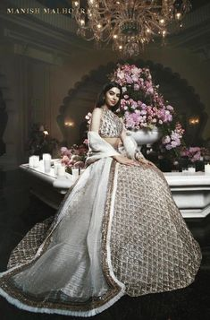 Most Glam Bridesmaid Outfit Ideas We Spotted at Wedding Lehnga, Desi Wedding Dresses, Indian Wedding Outfits, Bridal Outfits, Indian Outfits, Bridal Dresses, Indian Clothes, Bridal Gown, Prom Dresses