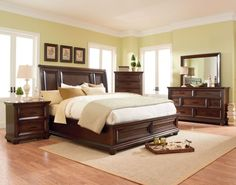 A modern bedroom set that's comfy and cozy and way less than you think. #sleepingin
