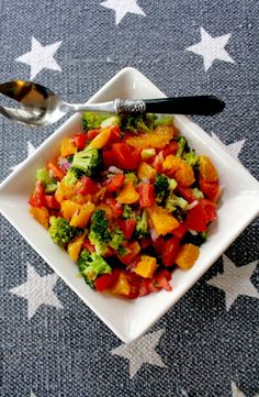 Orange, Tomato, Broccoli Salad