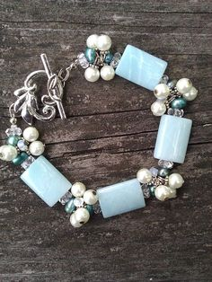 Amazonite Cluster Bracelet by suzanneshores