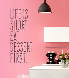 Life is short... als Wandtattoo