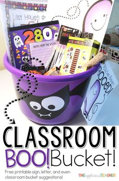 """Classroom Boo Bucket! You've been Boo-ed, but for the classroom! This free download includes everything you need to get a """"Boo"""" bucket activity started at  your school."""