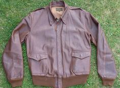 David D Doniger Contract 1942 Leather Flight Jacket, David D, Silver Wings, Pink And Green, Attitude, Pilot, Bomber Jacket, Military, Cosplay