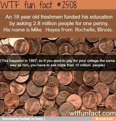 If you asked 400,000 people for a quarter, 1 million people for a dime, or 2 million people for a nickel you would be able to do this as well. I don't think this is likely but you could try