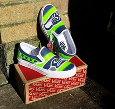 Check out this item in my Etsy shop https://www.etsy.com/listing/240545782/seattle-seahawks-vans-shoes-hand-painted