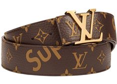 57c0e767592a Check out the Louis Vuitton x Supreme Initiales Belt 40 MM Monogram Brown  Gold available on StockX