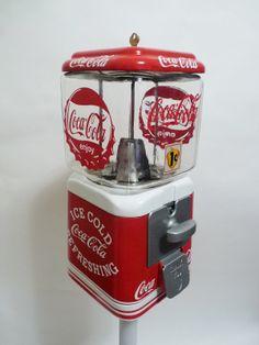 vintage Oak Acorn Coca Cola gumball vending machine