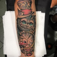 """509 Me gusta, 11 comentarios - Fede Almanzor Tattoo (@fedealmanzor) en Instagram: """"Cheshire cat  muchas gracias por el aguante y por la confianza @antoniocoleman20!…"""""""