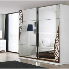 grey Bedroom Mirror Wardrobe Design For 2014