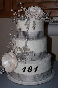 For the glitzy bride. This wedding cake is donned with diamonds!