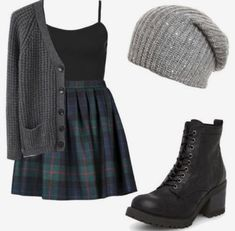 20 Outfit-Ideen für den Frühherbst - New Site Mode Outfits, Casual Outfits, Fashion Outfits, Dress Fashion, Fashion Clothes, Fashion Shoes, Fashion Ideas, Cute Outfits With Skirts, Grunge School Outfits