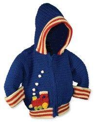Crochet Hoodie Jackat for Boys