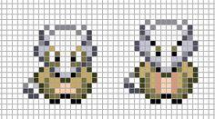 Mini: Cubone, Marowak by Hama-Girl on DeviantArt Fuse Bead Patterns, Perler Patterns, Cross Stitch Patterns, Kawaii Cross Stitch, Pokemon Cross Stitch, Pokemon Sprites, Pokemon Crochet Pattern, Pokemon Perler Beads, Perler Bead Templates