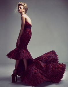 Alexander McQueen - Purple gown and oh my goodness those shoes !!