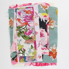 Print Fabric Scraps  5 Ounce Grab Bag of by michellepatterns
