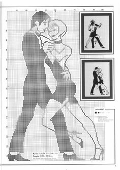 dancing couple cross stitch