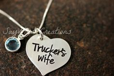 Trucker's Wife Sterling Silver Hand Stamped by SayWhatCreations, $36.50