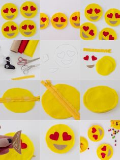 Here's a super quick and easy last minute Valentine's Gift–heart in eyes emoji zip pouches. You can fill them up with candy, gift cards or love notes! Materials: -Yellow, Red and Brown Felt –Pattern Download -7″ yellow zipper -scissors -glue gun Print pattern and cut out piece. Cut two circles from yellow felt, 2 heart …