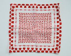 hearts valentine handkerchief
