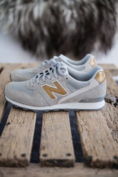 New Balance with some gold sparkle