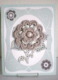 Beautiful crochet card