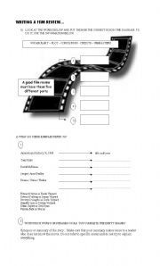 English teaching worksheets: Film reviews