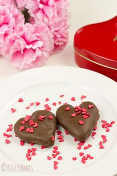Homemade Peanut Butter Hearts, via @Kelly Vass l http://kellybakes.com