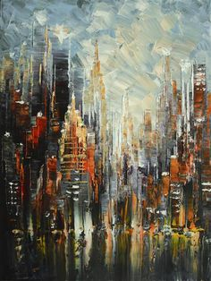Buy Original Art by Tatiana Iliina | acrylic painting | Majestic NYC at UGallery