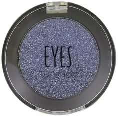 TOPSHOP Mono Eyeshadow in Thermite (42 RON) ❤ liked on Polyvore featuring beauty products, makeup, eye makeup, eyeshadow, navy blue, glitter eye makeup, topshop, shimmer eye shadow, navy blue eyeshadow and eye shimmer makeup
