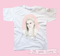 SALE -- Cher Horowitz t-shirt watercolor illustration Clueless Ugh as if