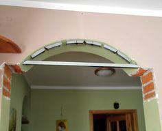 Jak z łuku zrobić prostokątne drzwi. | Szysia