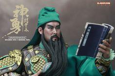: Guan Yu 关羽铠 - (160-219) General bajo el mando de Liu Bei durante la Dinastía Han tardía del Este y el Periodo de los Tres Reinos, bien preparado en administrar tanto ciudades como ejercito.